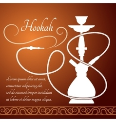 Hookah menu design vector