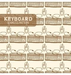Keyboard seamless pattern vector