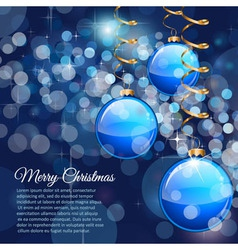Merry Christmas flyer with glitter background vector image