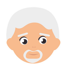 Old man avatar character vector