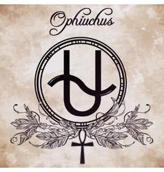 Ophiuchus constellation art vector