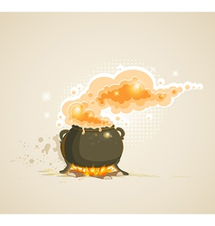 Pot in the fire vector