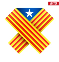 Ribbon of independence catalonia vector