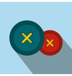 Sewing buttons flat icon vector image vector image