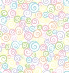 soft light shells pattern vector image vector image