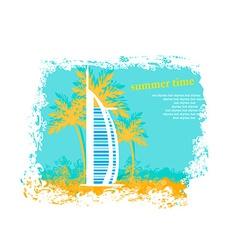 The Burj Al Arab Hotel in Dubai vector image vector image