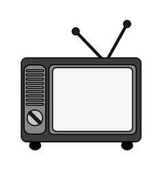 Tv retro icon image vector