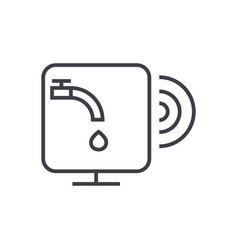 water sensor line icon sign vector image