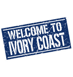 Welcome to ivory coast stamp vector