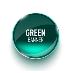 Realistic glass banner for web interface vector