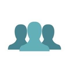Anonymous avatars icon flat style vector image
