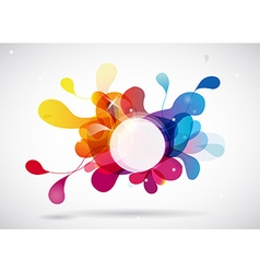 Abstract colored background with circle vector