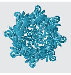 Decorative flourish design vector image