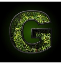 Grass cutted figure g vector