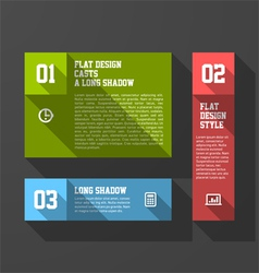 Design elements template long shadow style vector