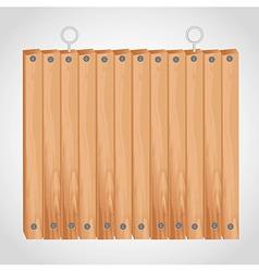 Wooden square board with grommets for hanging vector