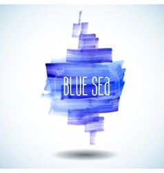 Blue sea abstract watercolor background vector