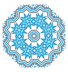 Ethnic ornament mandala pattern in different vector