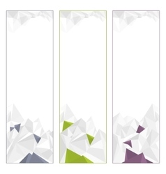 Set of polygonal banners vector