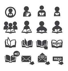 Read icon set vector