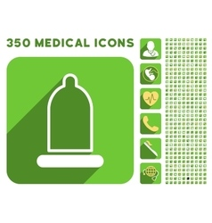 Preservative icon and medical longshadow icon set vector