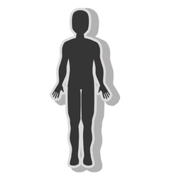 Male body silhouette vector