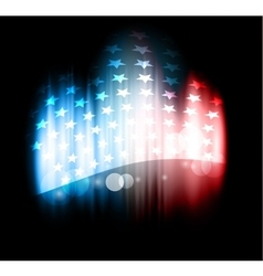Abstract of American flag vector image vector image