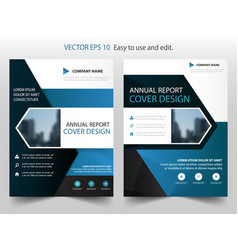 Blue abstract arrow annual report vector