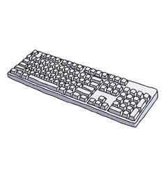 cartoon image of keyboard icon vector image