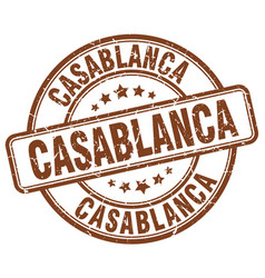 Casablanca stamp vector