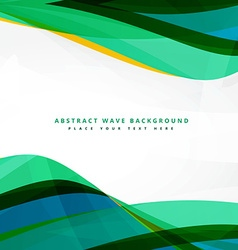 clean wavy template background design vector image vector image