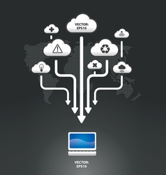 Cloud infographic graph vector