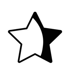 contour rating star symbol and element status vector image