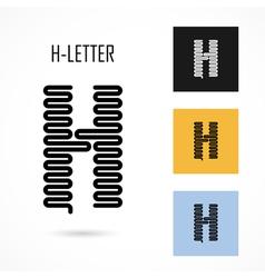 Creative h - letter icon abstract logo design vector