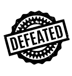 Defeated rubber stamp vector