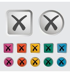 Delete button 2 vector