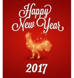 Fire rooster 2017 The symbol of the Chinese New vector image