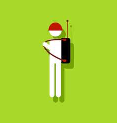 flat icon design collection soldier holding vector image