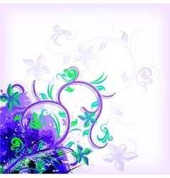 Floral violet on grunge background vector