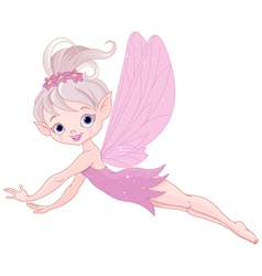 Flying fairy vector