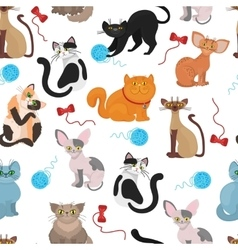 Fur cats pattern background vector