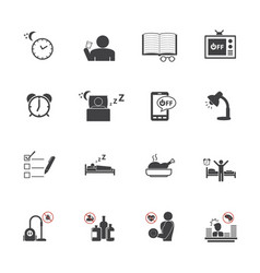 get up early daily routine icon set vector image