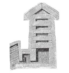 Great pyramid of giza kings chamber vintage vector