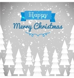 Greeting card of happy Merry Christmas vector image vector image