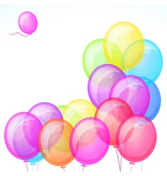 Group of colorful balloons isolated on white vector image
