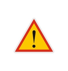 Hazard warning attention sign icon vector image