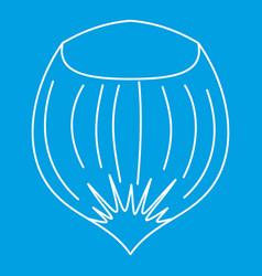 Hazelnut icon outline style vector