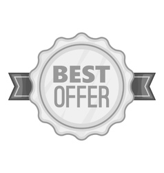 Label best offer icon gray monochrome style vector