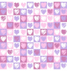 Pattern hearts vector