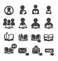 read icon set vector image vector image